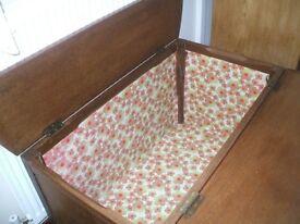 Unusual Antique Harrods Box/ Linen/ Toy/ Storage VGC