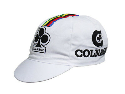 COLNAGO CYCLING CAP ITALIA HAT CAP POLYESTER SUBLIMATED UV RAY PISTA FIXED YELLO