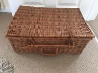 Vintage Wicker Hamper Basket