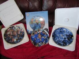 CHELSEA FC 3 X PLATES AND NEW 3D JIGSAW