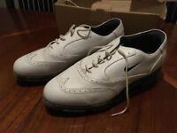 Nike white leather golf shoes, size 11.5