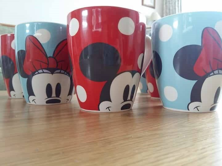 Mickey Mouse x Cath Kidston 3 Mickey and 3 Minnie Mouse Mugs Brand New