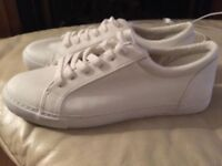 ASOS brand new white toe capped trainers size 10