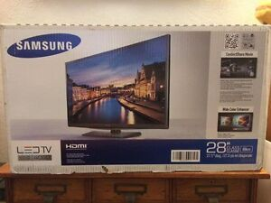 "28"" LED Samsung TV, new in box"