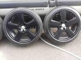 "Genuine 18""alloy wheels Audi RS 5x112"