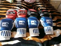 2pairs of boxing gloves and pads