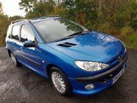 L@@K Peugeot 206 SW 1.4 HDi **DIESEL**ESTATE**LOW TAX**55MPG**Service History & Long Mot**