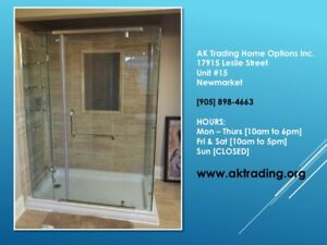 GREAT BIG SHOWER ENCLOSURE W/BASE- FULL BATHTUB REPLACEMENT SIZE