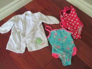 6-12 month girls swim suit lot