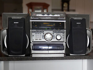 CD Player - Sony Compact Stereo (3-CD/AM-FM/cassette)