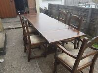 *** Solid table with 6 chairs & Welsh Dresser ***