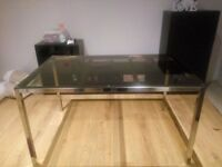 IKEA Torsby Dining Table, brown transparent glass top 55£
