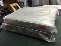 Superking size bed and mattress like new ex display new unused can deliver free