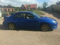 Subaru Impreza WRX in blue with full cream leather interior 53000 miles with FSH