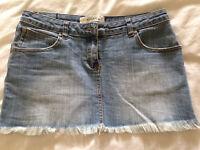 Kookai denim mini skirt