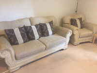 Two Seater Sofa With Arm Chair