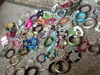 job lot. Assortment of bangles and bracelets approx 150 new