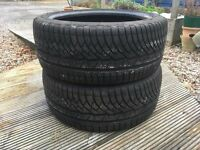 Two Michelin Alpin Winter Tyres 225/40 R18