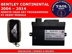 BENTLEY KEY PROGRAMMING BY MAIL ORDER SERVICE