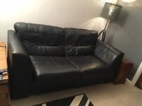 DFS Leather double bed settee