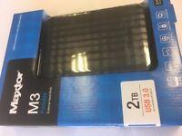MAXTOR 2TB EXTERNAL HARD DRIVE USB 3.0