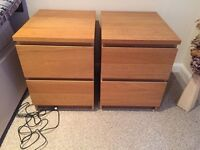 Ikea Malm 2 drawer chests