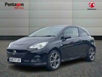 2017 Vauxhall CORSA 3 DOOR 1.4i Turbo Black Edition Hatchback 3dr Petrol s/s 150