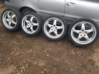 "18"" BMW ALLOYS 5X120,GOOD TYRES"