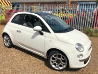 FIAT 500 LOUNGE WHITE ONLY 38,000 MILES, FULL SERVICE HISTORY