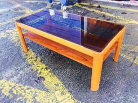 Mid Century Teak Glazed Coffee Table by Myer - Retro and Vintage