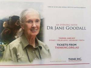 2 Tickets to 'An Evening with Jane Goodall' in Melbourne South Canberra Preview