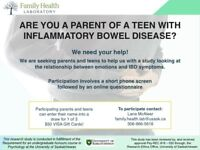 ARE YOU A PARENT OF A TEEN WITH BOWEL DISEASE?