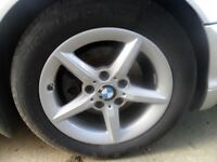 PRICE SLASHED FOR QUICK SALE - Bmw Original 5 spoke alloys in vgc complete with all good tyres
