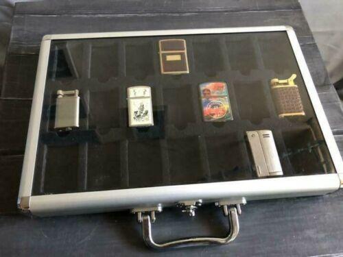 Zippo Storage Aluminium Display Box Lighter Case 42 Pieces for Collectors Japan