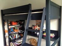 High Sleeper - with shelf, cork board and desk ASPACE