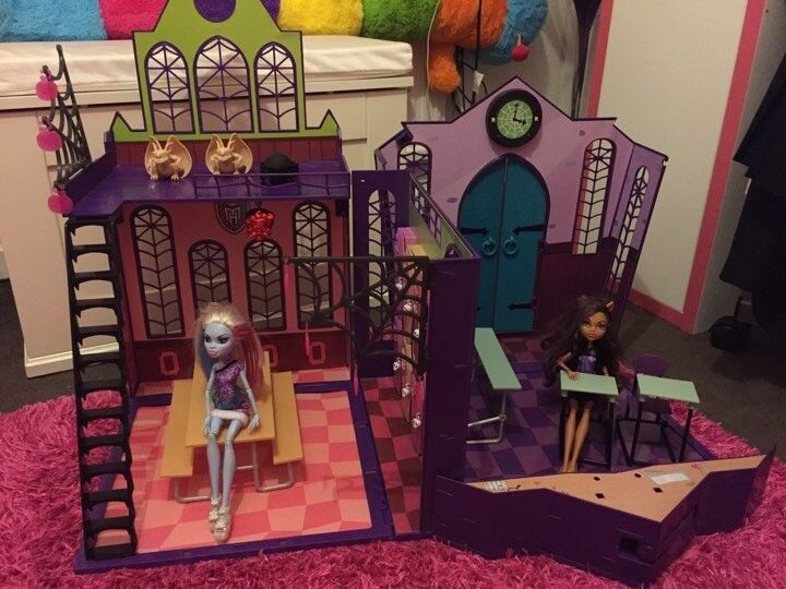 Monster High School Playset With Accessories and two dolls