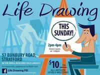 Life drawing sessions (all skill levels) for ages 18+
