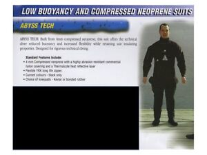 Abyss 'Tech' Drysuit (Size Small-Med), Dry Gloves and Undersuit