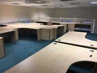 used office corner desks clearance x30