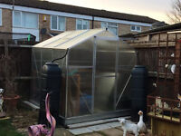 6 x 6 ft greenhouse with extras