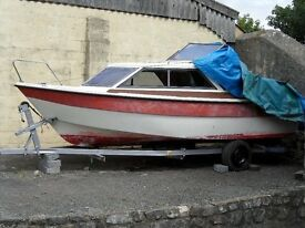 Picton boat 18ft on trailer. ideal project