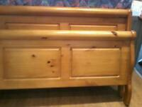 solid wood french sleigh style bed