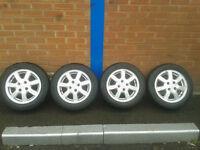 14 inch alloy wheels x4