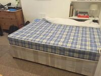 Double bed : base and mattress - great condition