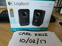 Logitech laptop or PC speakers - Nearly new