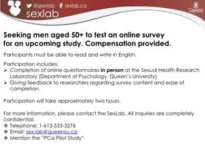 Men 50+ Needed to Test Online Survey - COMPENSATION PROVIDED
