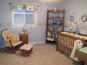 Baby room decor and crib bedding