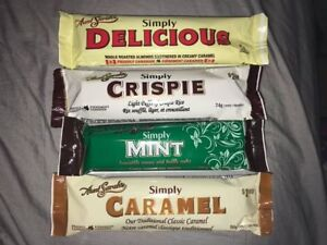 SIMPLY DELICIOUS CHOCOLATE BARS---almost gone