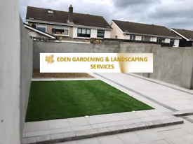 Gardening and landscaping flagging fencing turf lawns driveways paving