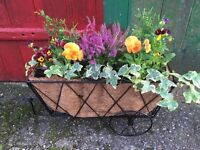 Hay Cart Planter - Filled with plants
